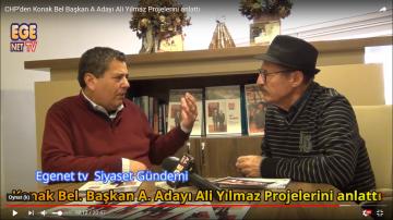 CHP'den Konak Bel Başkan A Adayı Ali Yılmaz Projelerini anlattı..