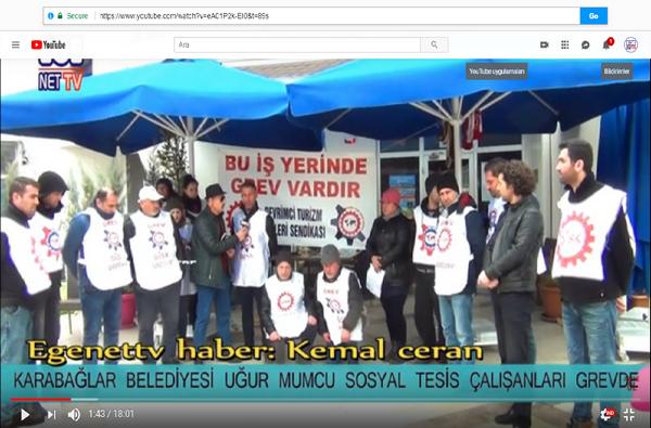 Karabağlar Belediyesi Uğur Mumcu Sosyal Tesis Çalışanları Grev Kararı Aldı
