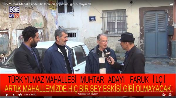 """Türk Yılmaz Mahallesinde """"Artık hiç bir şey eskisi gibi olmayacak"""