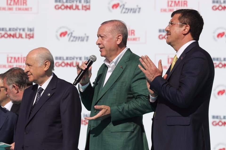 Cumhur İttifakı İzmir Gündoğdu Meydanında Teşekkürler İzmir