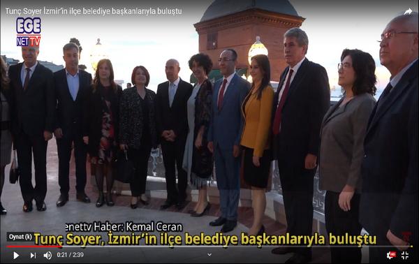 Tunç Soyer İzmir'in ilçe belediye başkanlarıyla buluştu