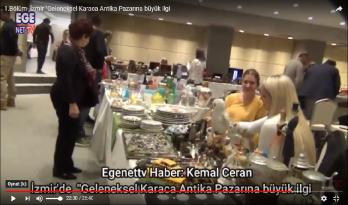 """1.Bölüm- İzmir """"Geleneksel Karaca Antika Pazarına büyük ilgi"""