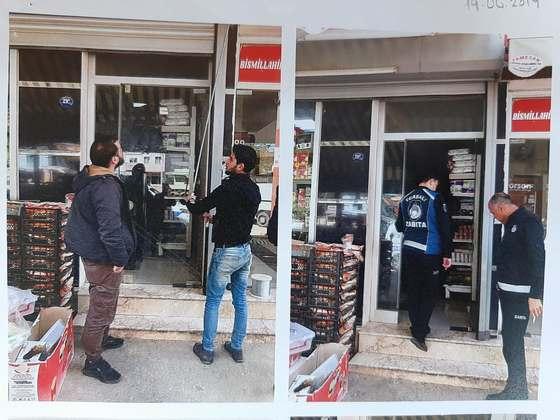 Belediye, Suriyelilerin dükkanlarını mühürledi