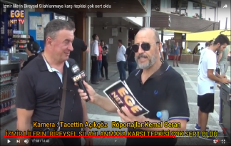 İzmir lilerin Bireysel Silahlanmaya karşı tepkisi çok sert oldu