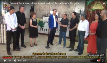 """Sanatcı Soner Aldemir ikinci albümünün ilk şarkısı """" Aman Seher'e Klip çekti"""