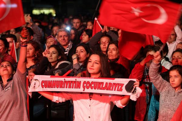 Gaziemir'de Cumhuriyet coşkusu