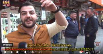 İzmir Çankaya Esnafı Korona Virüsü için ne dedi ?