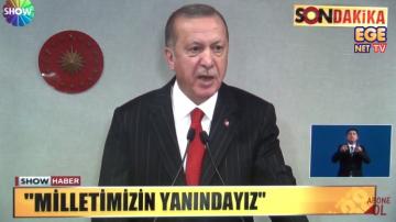 Cumhurbaşkanı RT Erdoğan yeni korona virüs önlemlerini açıklıyor.