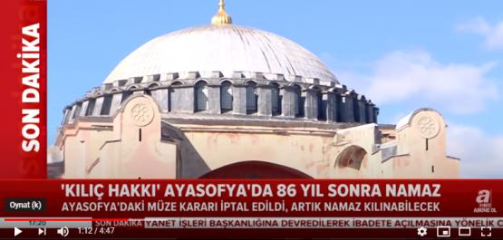 Tarihi Ayasofya cami oldu Karara Destek Yağdı