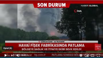 Sakarya Hendek'teki Havai Fişek Fabrikasında Korkutan Patlama Ve Yangın!