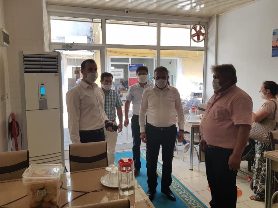 Beydağ'da yapılan koronavirüs denetimine kaymakam ve belediye başkanı da katıldı