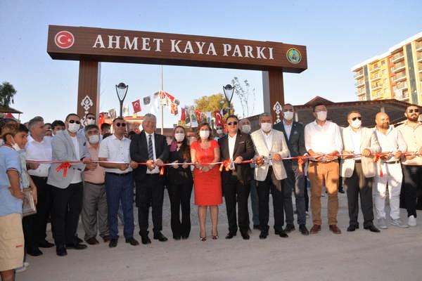 Menemen'e yeni bir park daha Ahmet Kaya Parkı açıldı