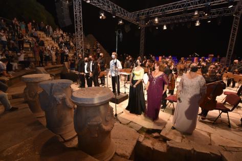 Anadolu Ezgileri' konseri Metropolis Antik Kenti'nde gerçekleşti.