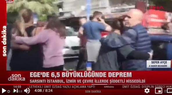SON DAKİKA: İzmir'de 6.6 Büyüklüğünde Deprem Meydana Geldi!
