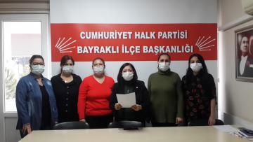 CHP Bayraklı İlçe Kadın Kollarından Basın Açıklaması