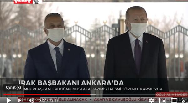 Cumhurbaşkanı Erdoğan Irak Başbakanı'nı Ankara'da Resmi Törenle Karşılıyor