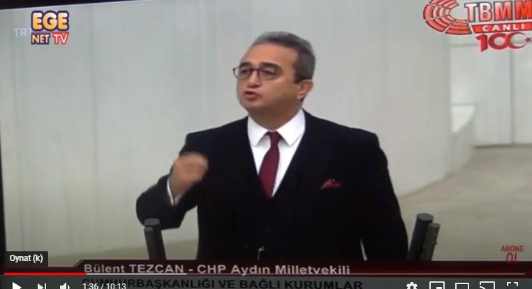 CHP Aydın Milletvekili Bülent Tezcan AKP'ye ve Başkanlık sistemine söylemediğini bırakmadı