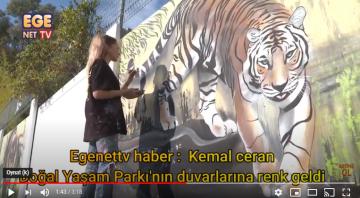 Doğal Yaşam Parkı'nın duvarlarına renk geldi
