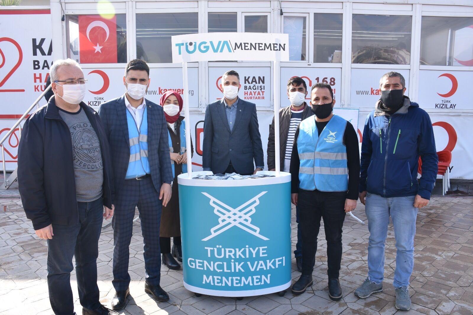 TÜGVA Menemen'den Kan Bağışı Kampanyasına Destek