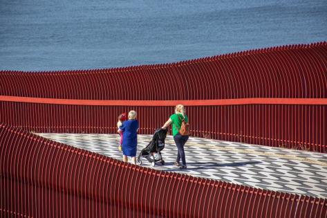 Bayraklı yaya köprüsüne uluslararası tasarım ödülü