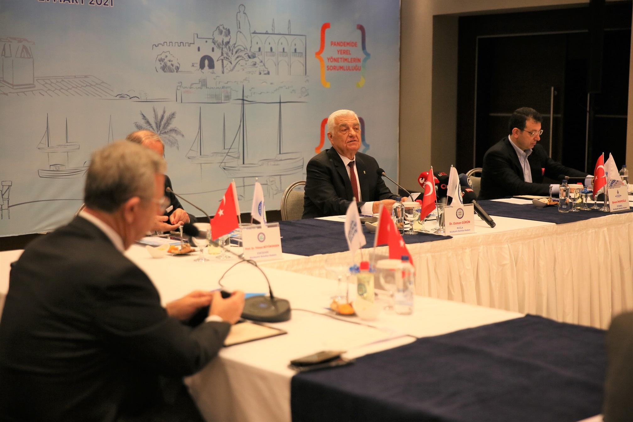 Büyükşehir Belediye Başkanları Muğla'da Buluştu