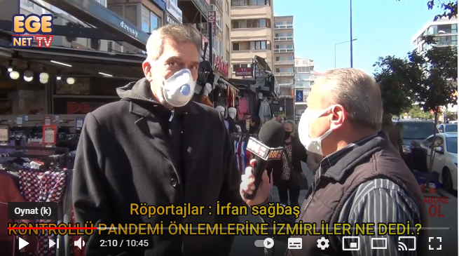 İzmirliler Kontrollü Pandemi Önlemleri ile ilgili ne dedi.?