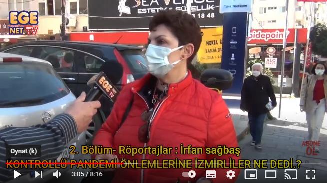 2. BÖLÜM- İzmirliler Kontrollü Pandemi Önlemleri ile ilgili ne dedi.?